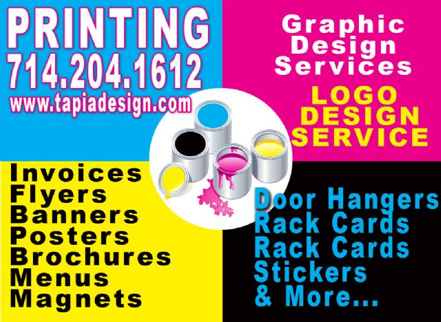 Anaheim Printing Design Business Cards Flyers