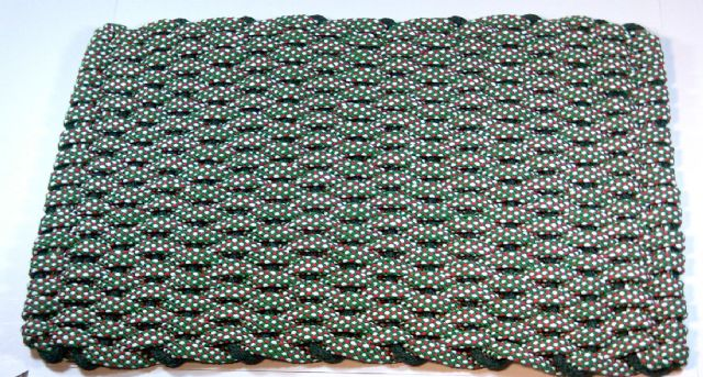 Hand woven Christmas rope doormats made in USA 