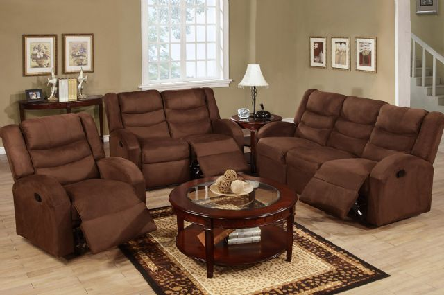 CHOCOLATE MOTION RECLINER SOFA AND LOVE SEAT F6668