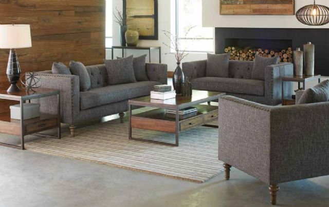 ELLERY COLLECTION GREY TWEED SOFA 505771 BY COASTE