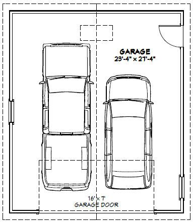 24x28 2 car garage 672 sq ft pdf floor plan 24 x 28 garage plans free