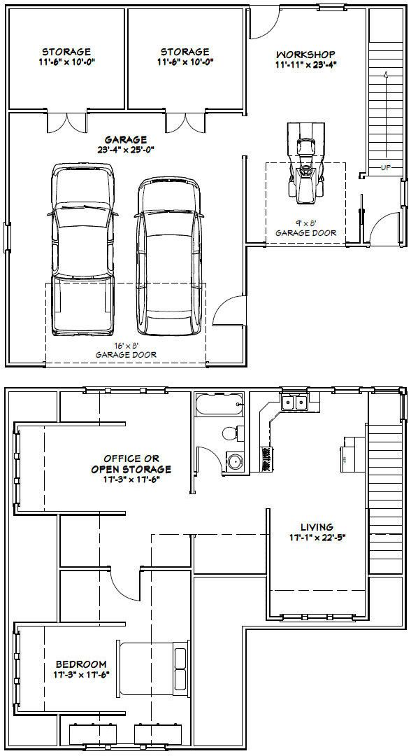 40x36 2-car garage -- 2 110 sqft