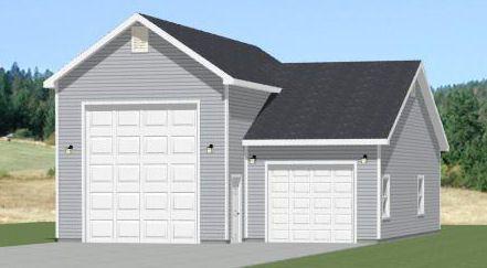 40x36 2 car garage pdf floor plan 2 110 sqft pine