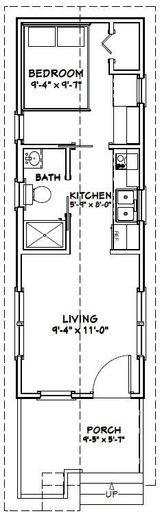 10x30 tiny house 300 sq ft pdf floorplan washington for Tiny house floor plans pdf