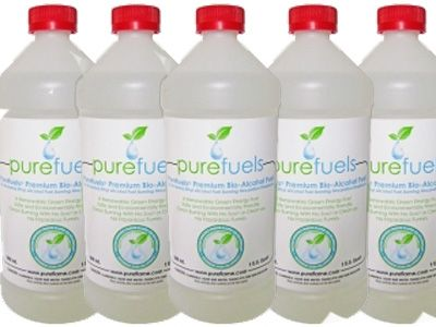 Carton of 12 Quarts of Ethanol Biofuel