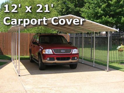 12' x 21' Steel Carport Cover Garage