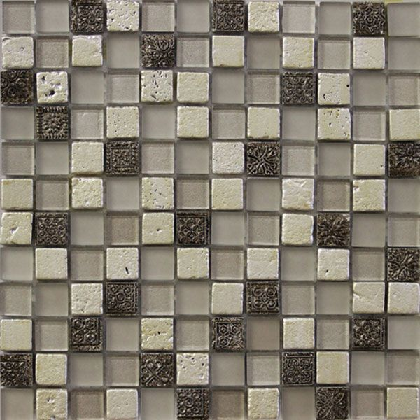 Glass and Art Marble Mosaic Tile Mix