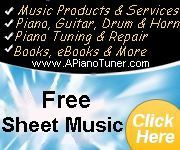 SHEET MUSIC -  FREE (Absolutely free)