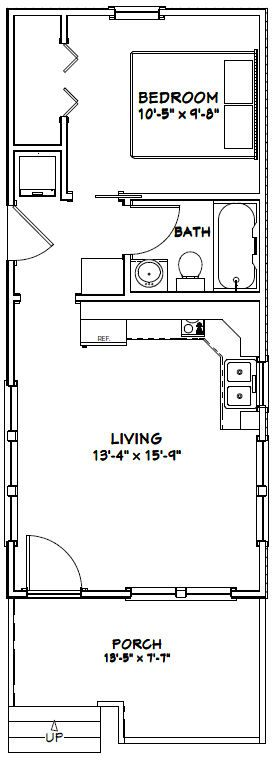 14x32 tiny house pdf floor plan 447 sq ft monroe for Tiny house floor plans pdf