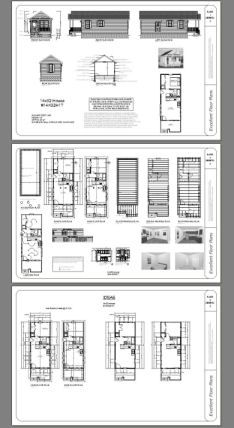 14x32 Tiny House Pdf Floor Plan 447 Sq Ft Monroe