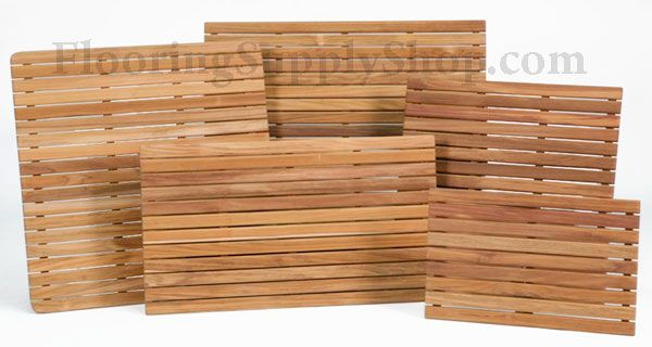 Bathroom and Shower Teak Wood Mat