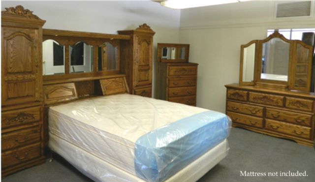 Oakwood Interiors Bedroom Set Solid Oak Tulsa Oklahoma Furniture For Sale Classified Ads