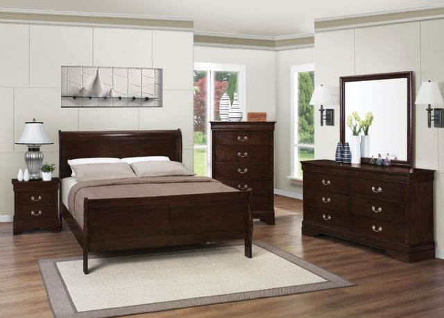Louis Philippe Bedroom Set Hardwood 202411