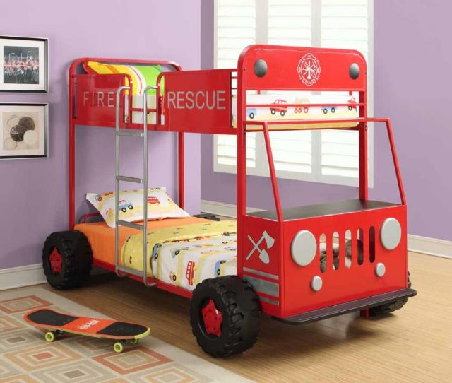 FIRE RESCUE BUNK BED 460026 COASTER