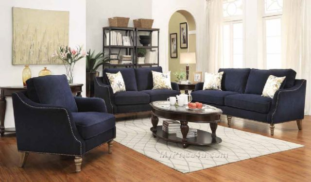 VESSOT COLLECTION INK BLUE SOFA 505791 BY COASTER