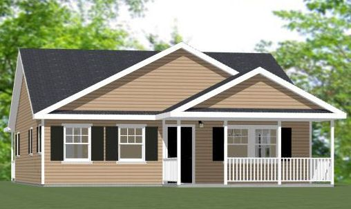 28x32 1 bedroom house 895 sqft pdf floorplan augusta for 40x36 garage