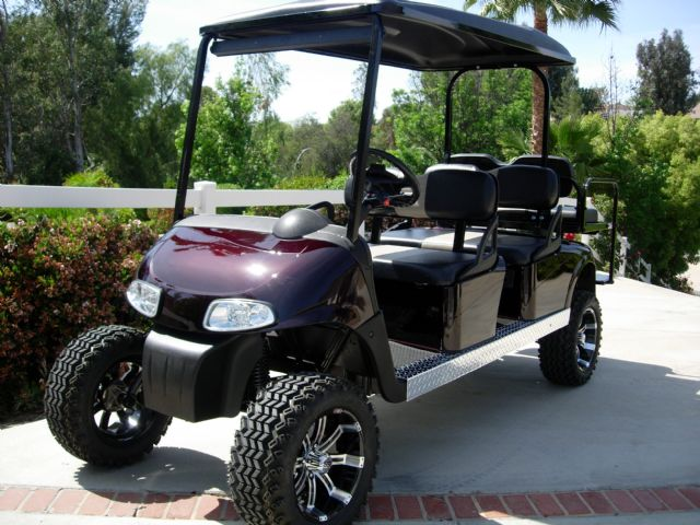 courtesy cart, stretch jaguar 2014, stretch money, black cart, on stretch golf cart cover