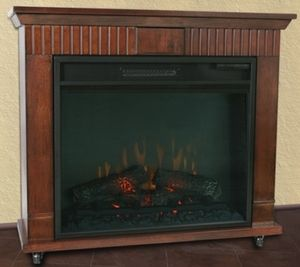 High Quality Cherry Finish Electric Fireplace