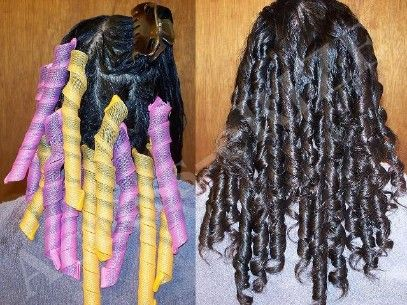 20 Extra-Long Wide Curlformers Spiral 4 Long Hair
