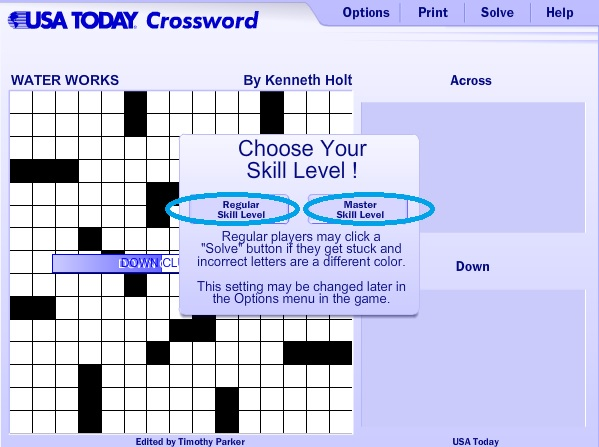 Dashing image pertaining to usa today printable crossword