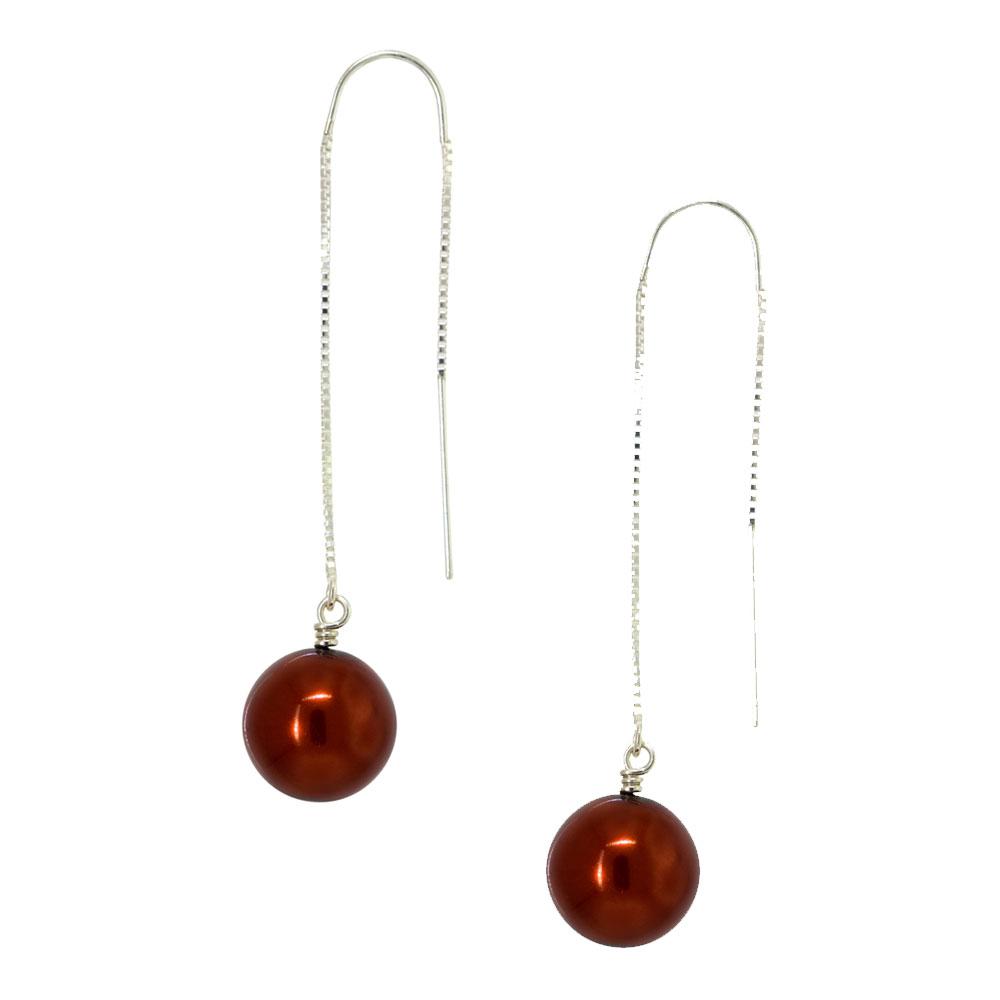 Copper Fire Earrings