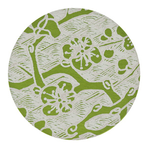 25mm Lime Green Cherry Blossom Anodized Aluminum Disc | Fusion Beads