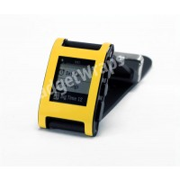 Bright Yellow Pebble Watch Wrap And Screen Protector