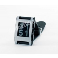 Brushed Aluminum Film and Screen Protector For Pebble Watch