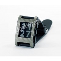 Dark Pewter Carbon Fiber Film and Screen Protector For Pebble Watch