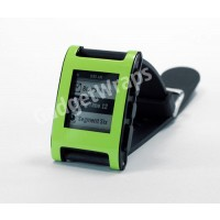 Gloss Lime Green Pebble Watch Wrap And Screen Protector