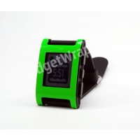 Green Hyper Fluorescent Pebble Watch Wrap and Screen Protector