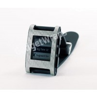 Light Pewter Carbon Fiber Film and Screen Protector For Pebble Watch
