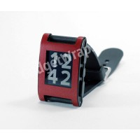 Matte Metallic Dark Red Pebble Watch Wrap