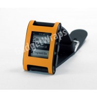 Matte Bright Orange Pebble Watch Wrap And Screen Protector