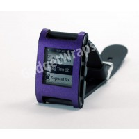Metallic Purple Pebble Watch Wrap And Screen Protector