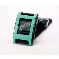 Mint Green Matte Pebble Watch Wrap And Screen Protector