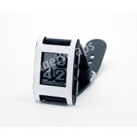 White Carbon Fiber Film and Screen Protector For Pebble Watch