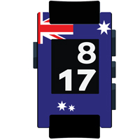 Australia Flag Matte Pebble Watch Wrap and Screen Protector