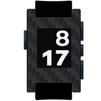 Black Carbon Fiber Film and Screen Protector For Pebble Watch