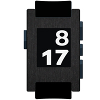 Brushed Black Metallic Film and Screen Protector For Pebble Watch