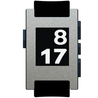 Brushed Titanium Film and Screen Protector For Pebble Watch