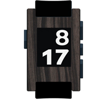 Ebony Metallic Film and Screen Protector For Pebble Watch