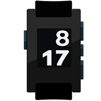 Gloss Black Pebble Watch Wrap And Screen Protector