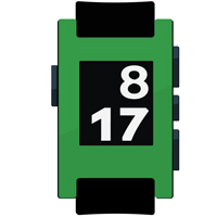Kelly Green Pebble Watch Wrap And Screen Protector