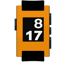 Gloss Bright Orange Pebble Watch Wrap And Screen Protector