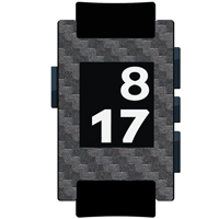 Graphite Carbon Fiber Film and Screen Protector For Pebble Watch