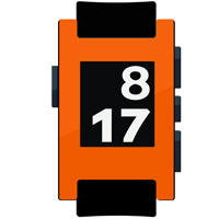 Orange Hyper Fluorescent Pebble Watch Wrap and Screen Protector