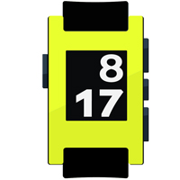Yellow Hyper Fluorescent Film and Screen Protector For Pebble Watch