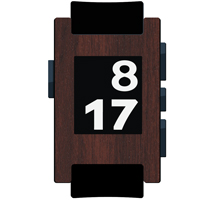 Rosewood Film and Screen Protector For Pebble Watch