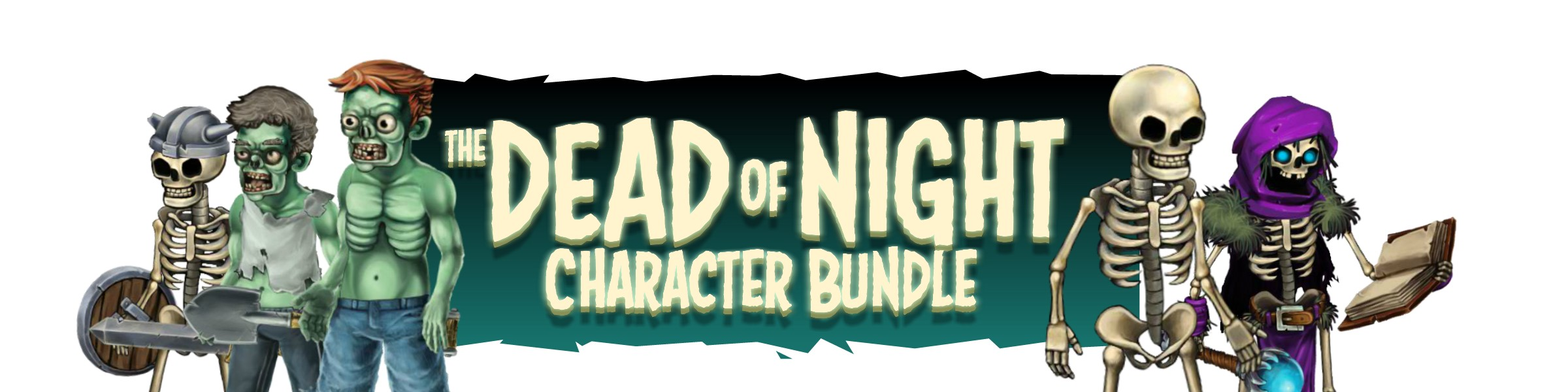 Dead of Night Character Bundle - Royalty Free Game Art